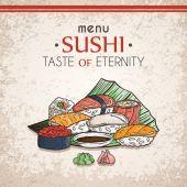 Doodle sushi a rohlíky