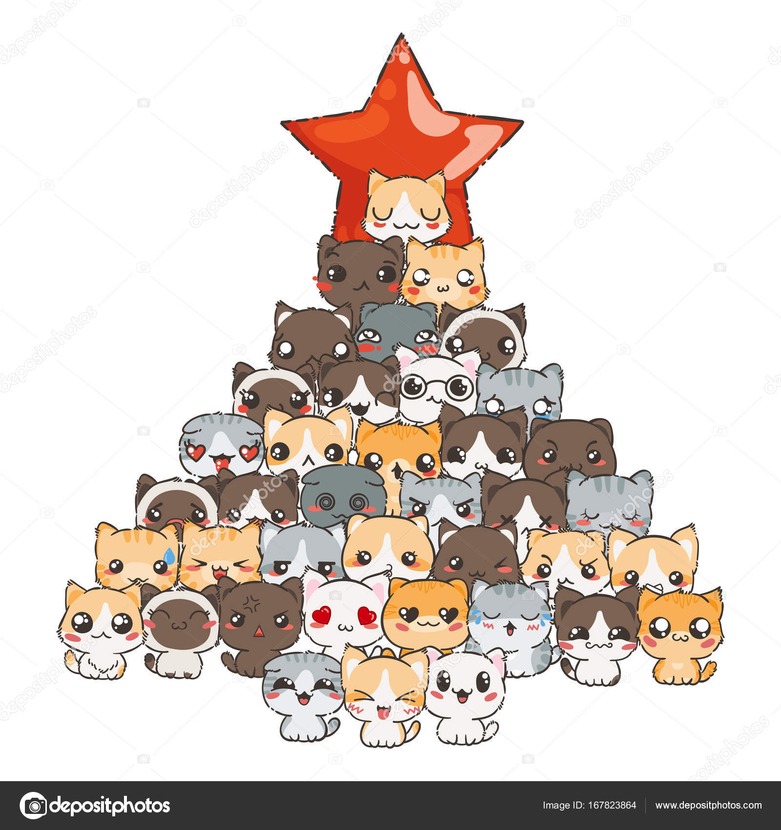 Pictures Cute Cartoon Cat Cute Cartoon Cats And Dogs Stock Vector C Drekhann 167823864