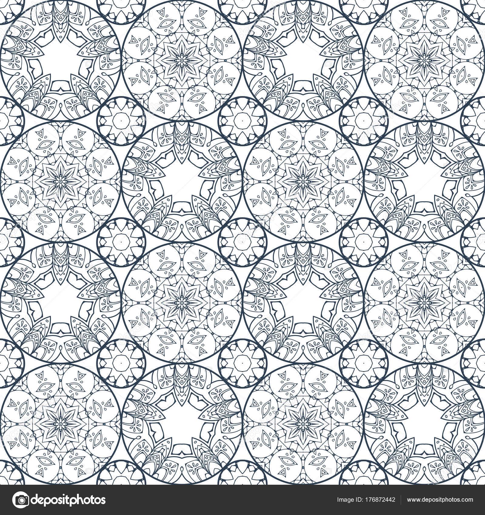 Parche flor boho de patrones sin fisuras patchwork de for Papel pintado oriental