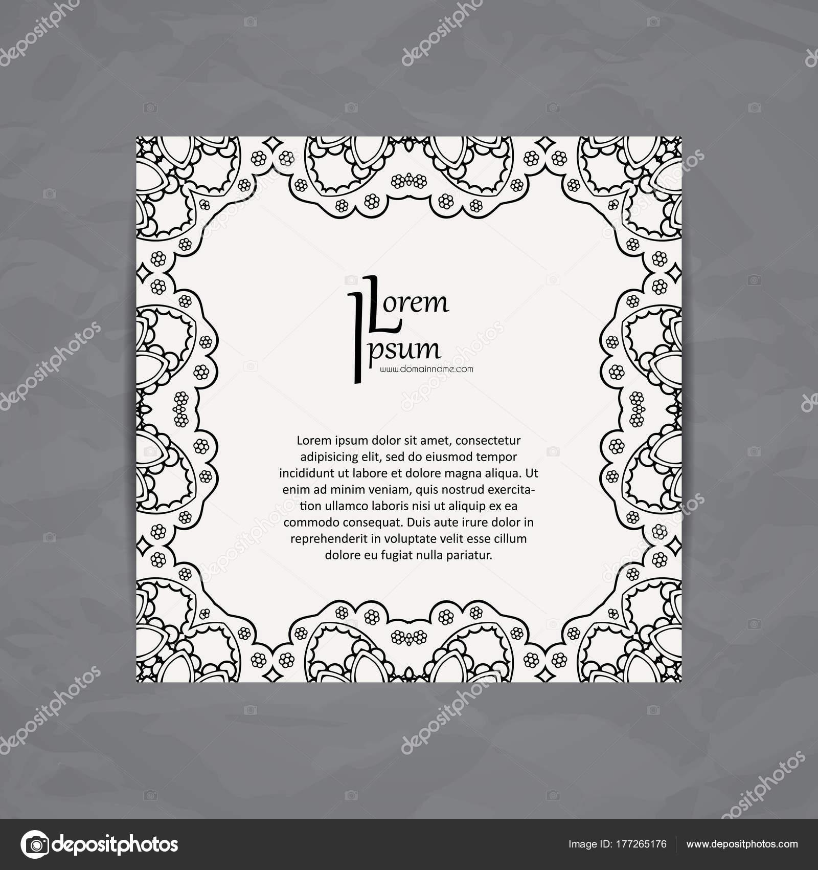 Vektor-Design-Karte-Vorlage. Visitenkarte mit Kreis Ornament ...