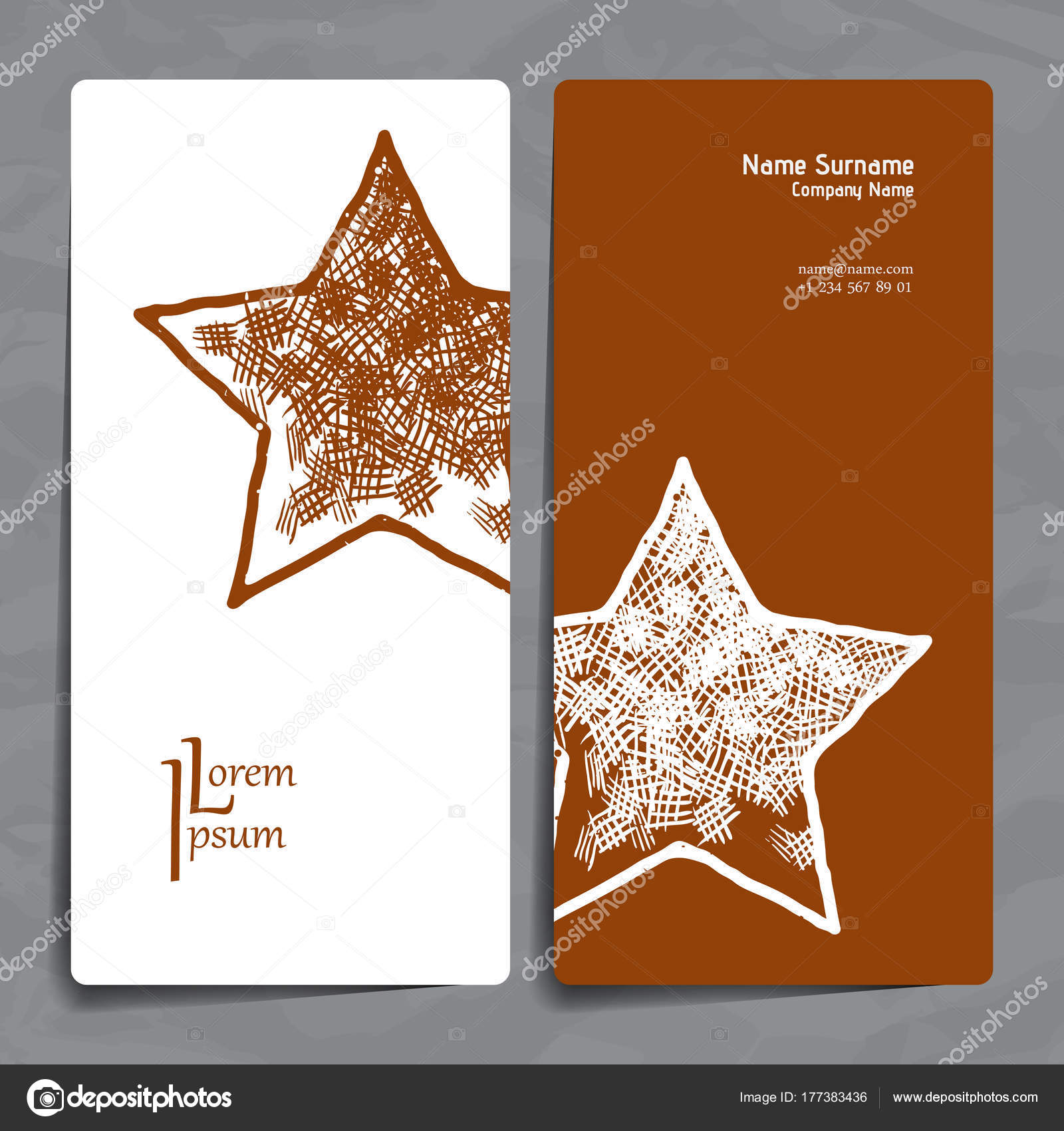 Set of vector design templates business card with star element set of vector design templates business card with star element hipster style reheart Choice Image