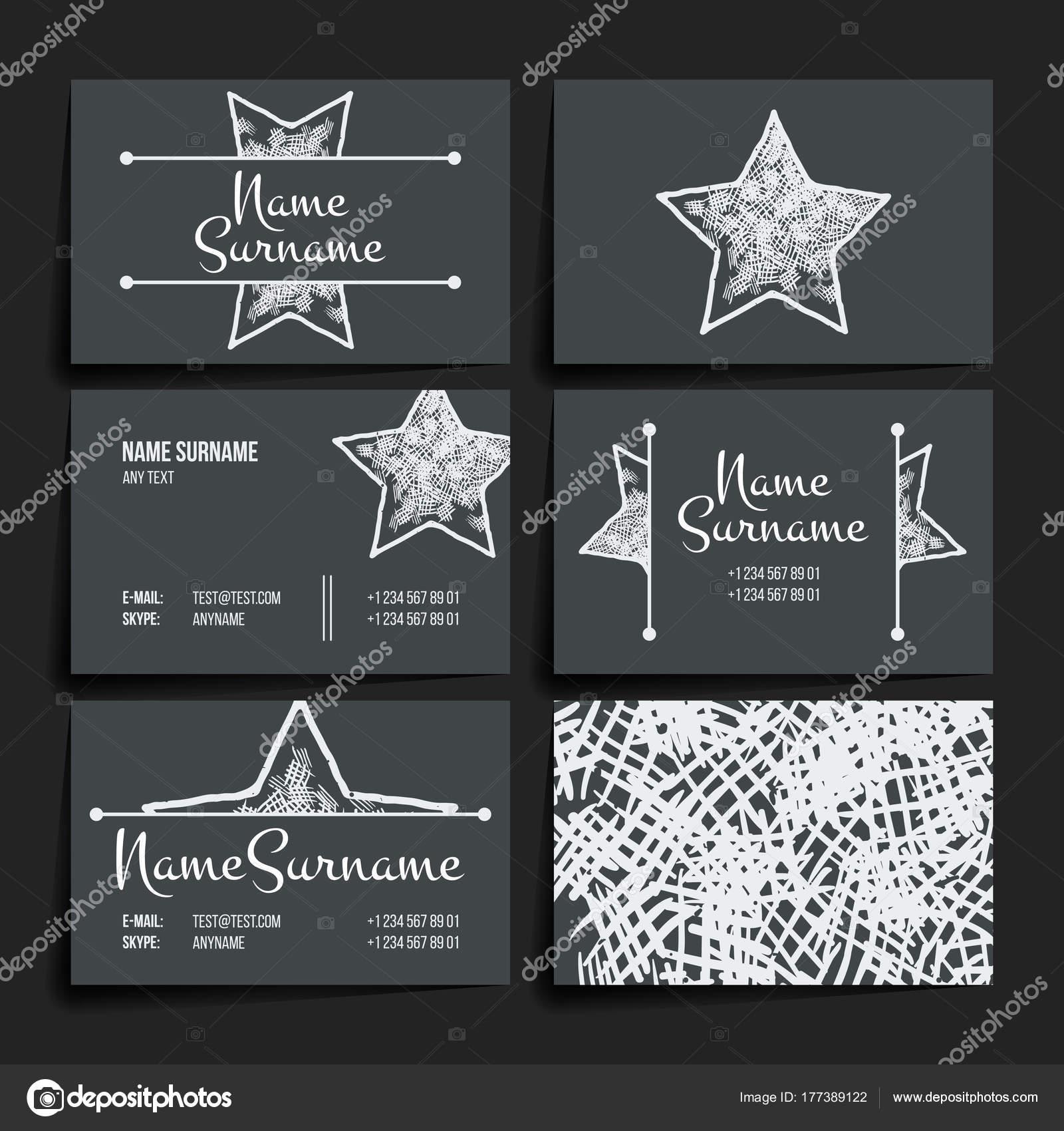 Ensemble De Modles Conception Vecteur Brochures En Style Color Au Hasard Vintage Frames Et Arrire Plans Carte Visite Avec Lment Toile