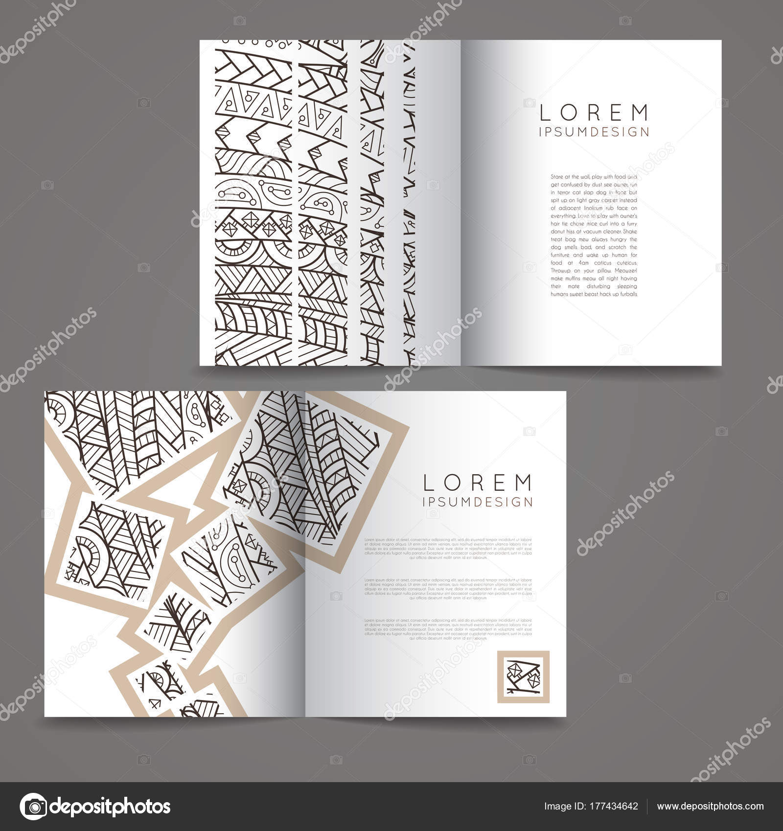 Set Of Vector Design Templates Brochures In Random Colorful Style - Templates for brochures