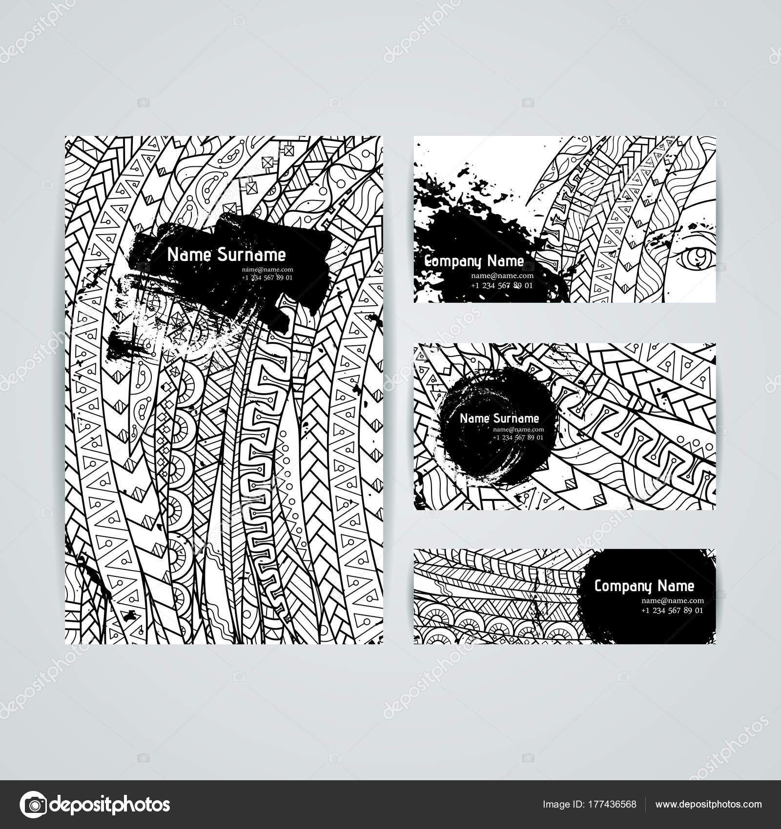 Conjunto de plantillas de diseño vectorial. Folletos en estilo ...