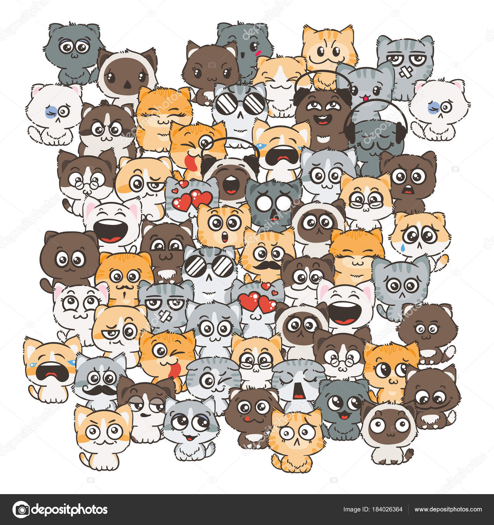 Marionetas Animales Para Imprimir Ilustración Con Gatos Y