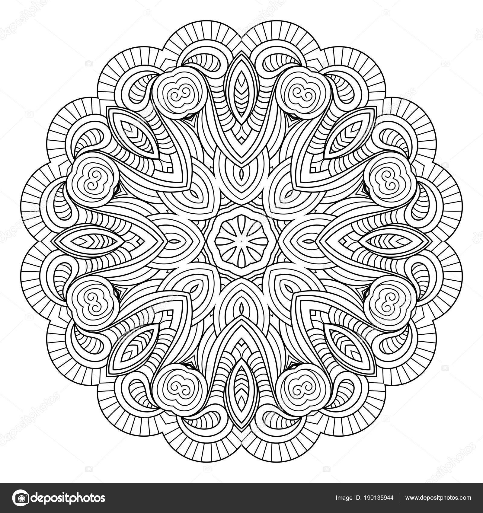 Atractivo Patrón De Círculo Para Colorear Composición - Ideas Para ...