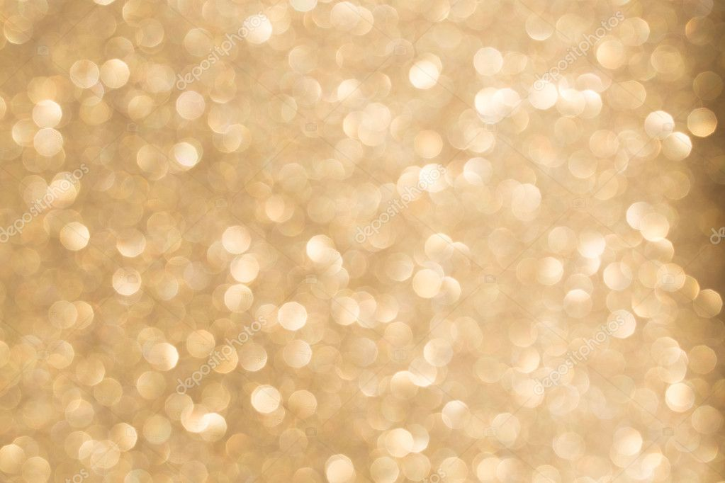 Bokeh Gold Color Light Chain As A Texture Background