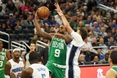 Boston Celtics player Brad Wanamaker #9 makes a layup at the Amway Center on Friday January 24, 2020 in Orlando, Florida.  Photo Credit:  Marty Jean-Louis