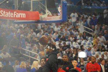 Orlando Magic 19 Nisan 2019 Cuma günü Orlando Florida 'daki Amway Arena' da düzenlenen NBA Playoff 1 'de Toronto Rapters' a ev sahipliği yapıyor. Fotoğraf: Marty Jean-Louis