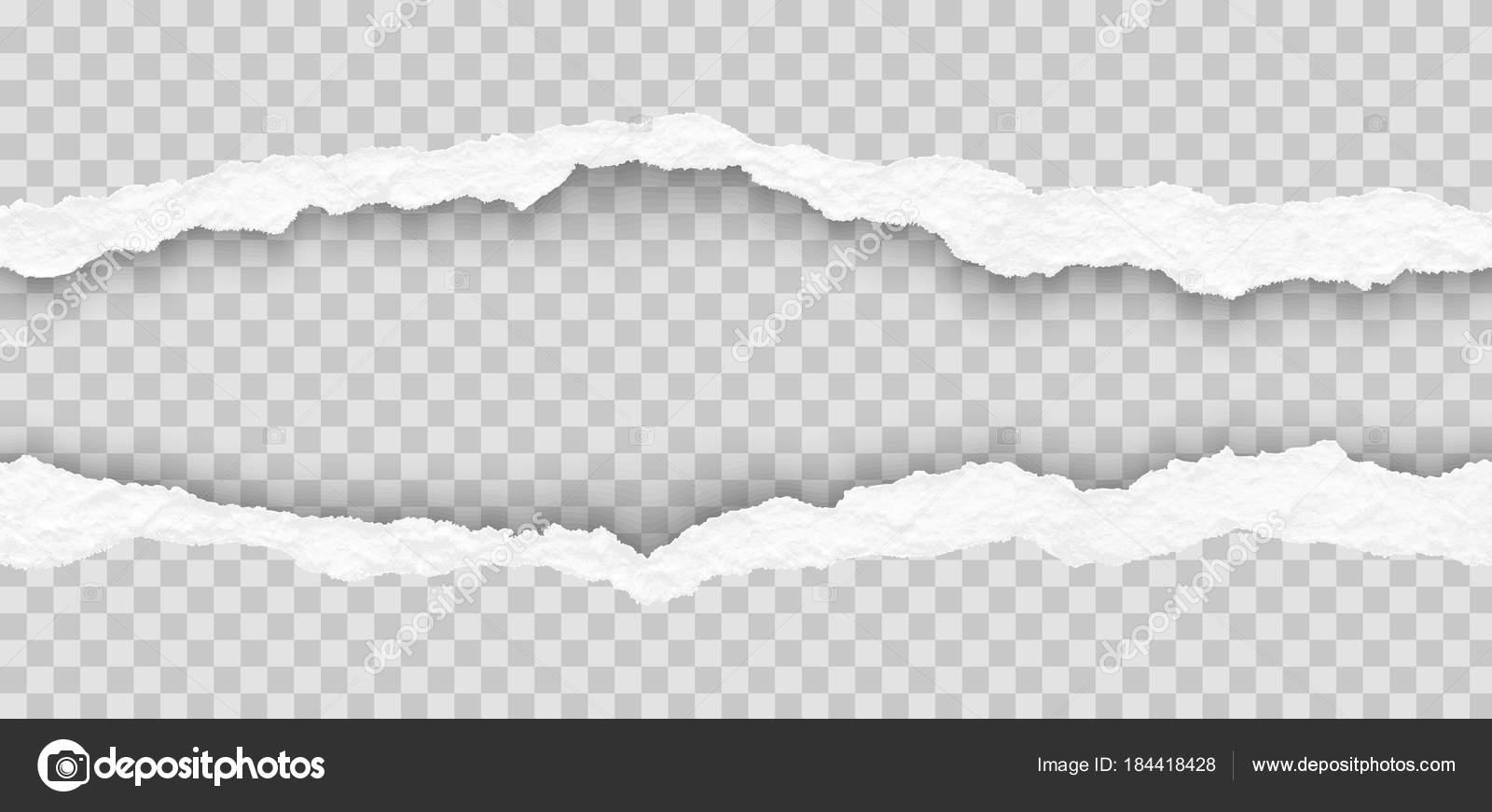 Seamless Torn Paper Edges Vector Illustration \u2014 Stock Vector © swavo