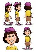 póze dívka s kloboukem