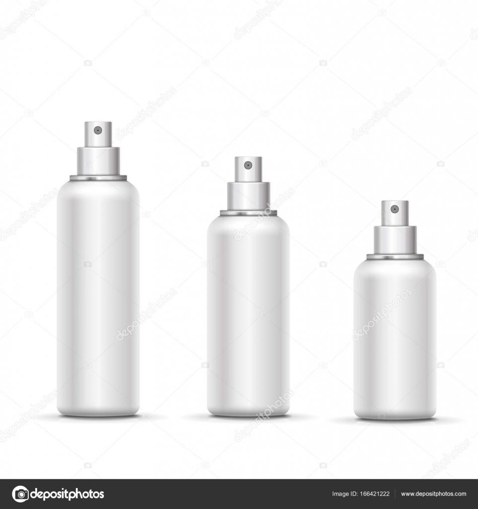 空のホワイト メタル スプレー ボトル キャップを設定します ベクトル