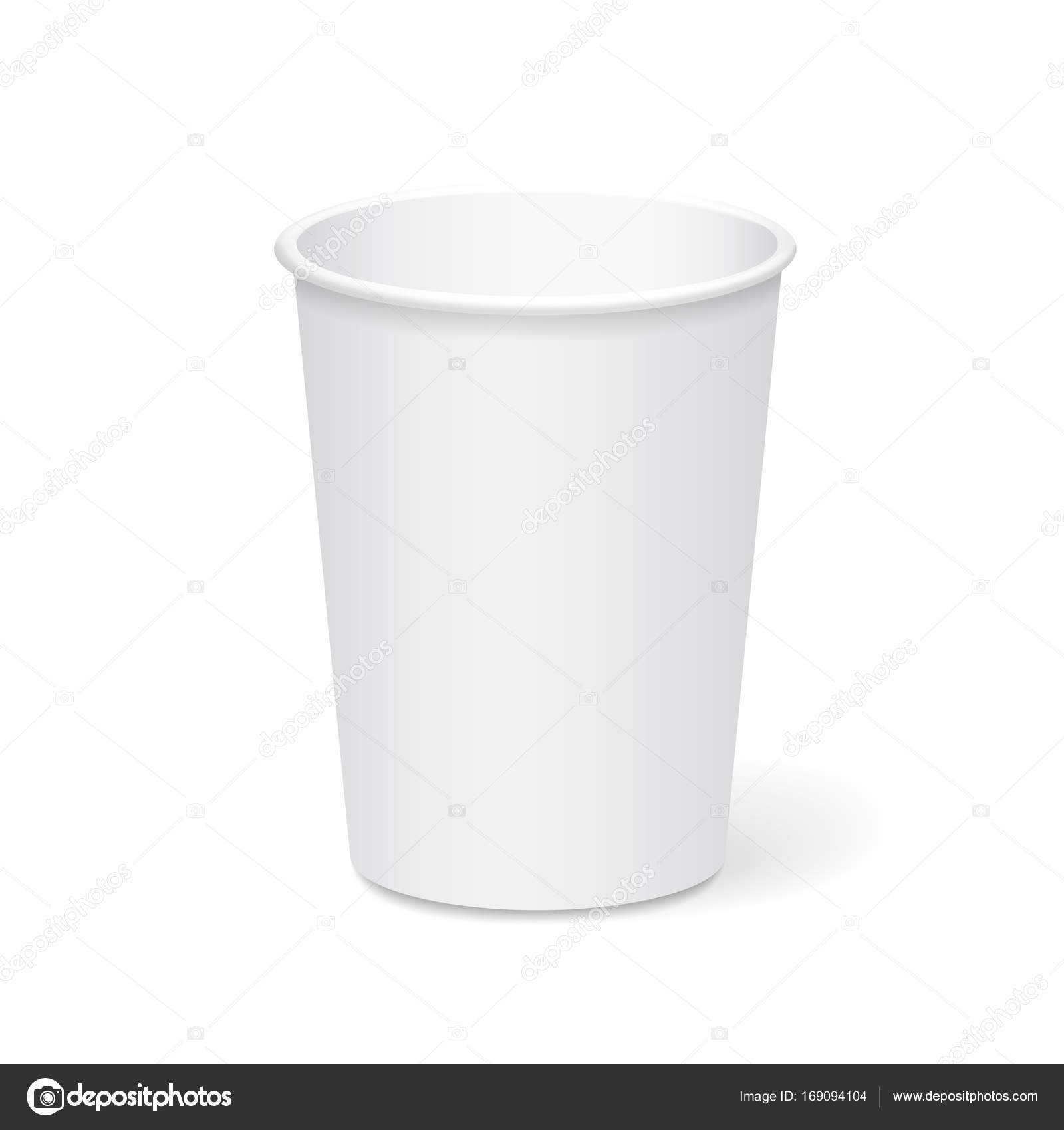 white paper cup template for coffee tea to take away 3d