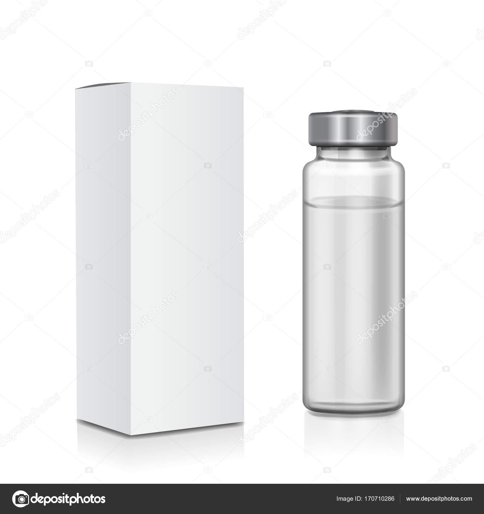 Liebenswert Mypaketkasten Ideen Von Transparente Medizinische Glasampulle Mit Paketkasten Vektor-tration —