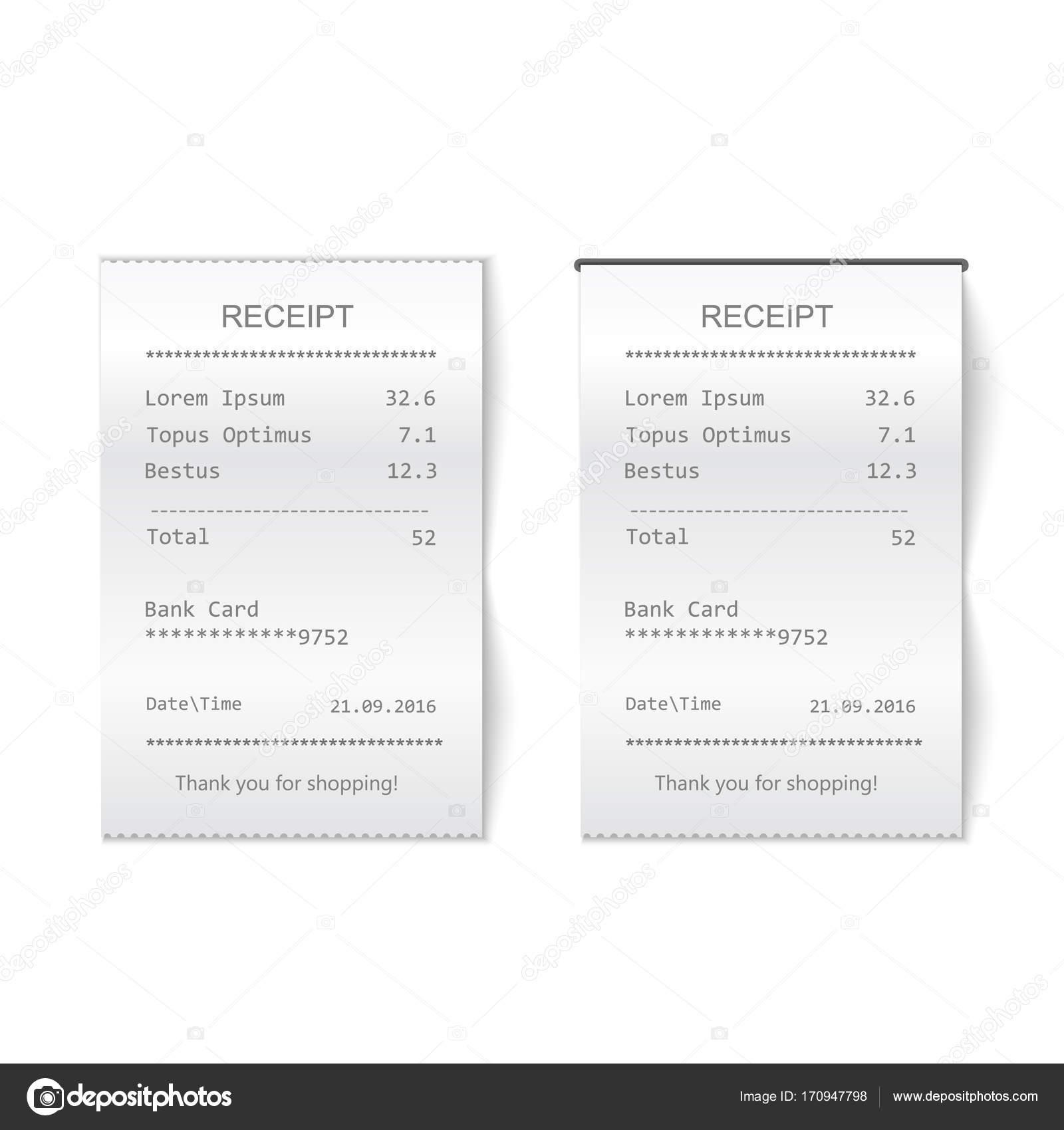 Gedruckte Rechnung. Bill-atm-check — Stockfoto © Lightkite #170947798