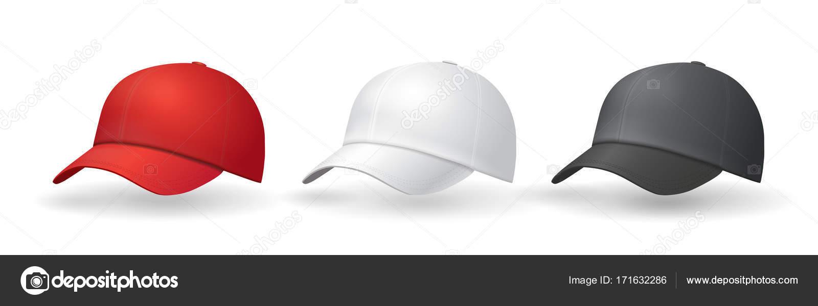 Hüte-Vorlagen einheitlich Baseballcap — Stockvektor © Lightkite ...