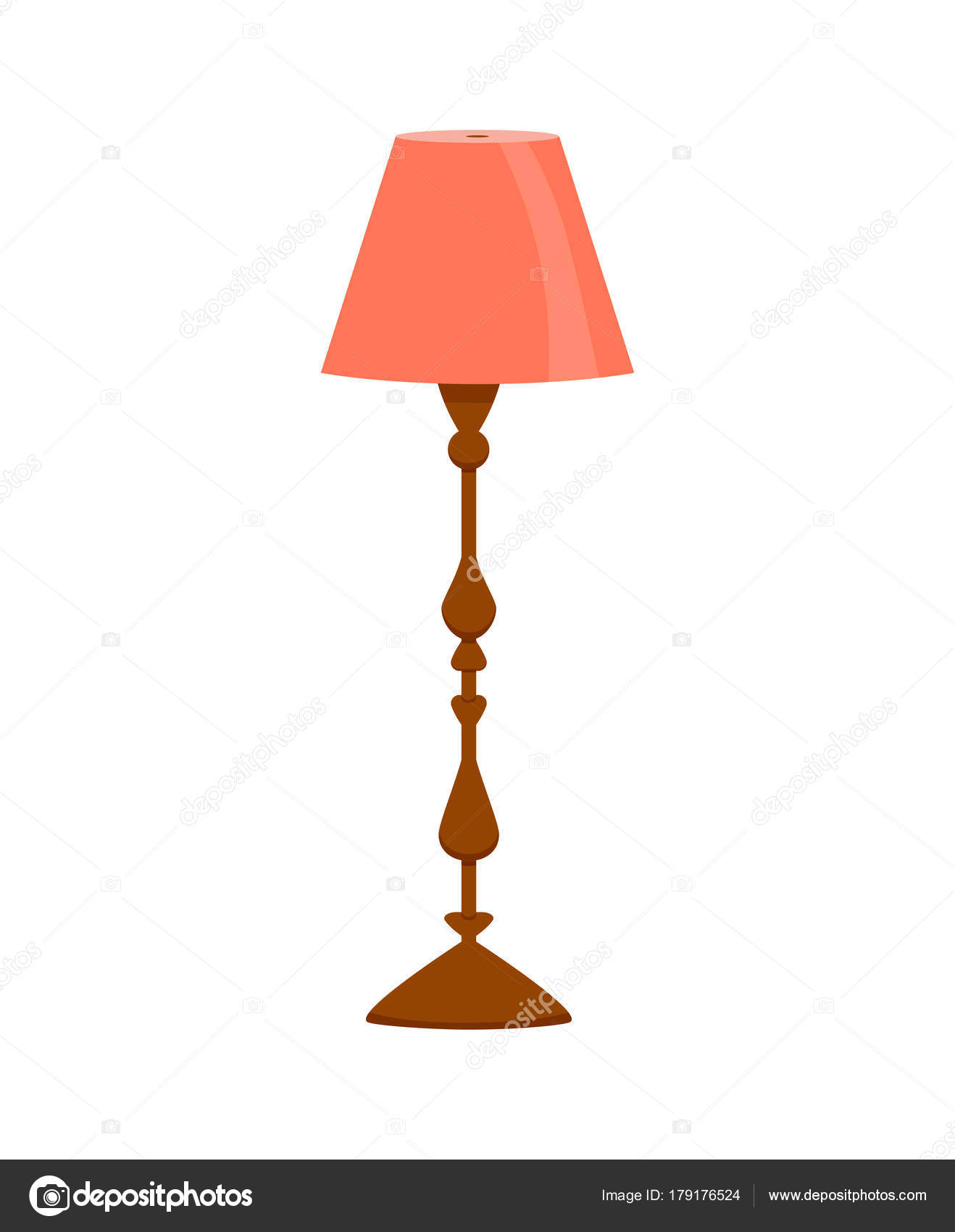 Set of colorful cartoon floor lamps light — Stock Vector © Oligliya ... for tall lamp clipart  166kxo