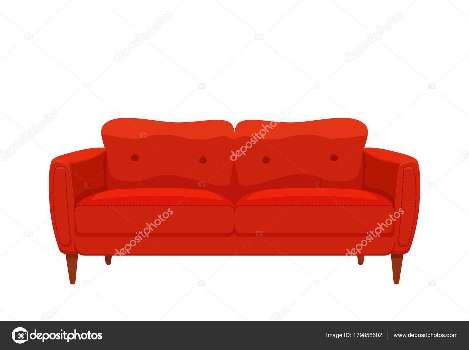Sillones Coloridos.Animado Sofa Animados Ilustracion De Dibujos Animados