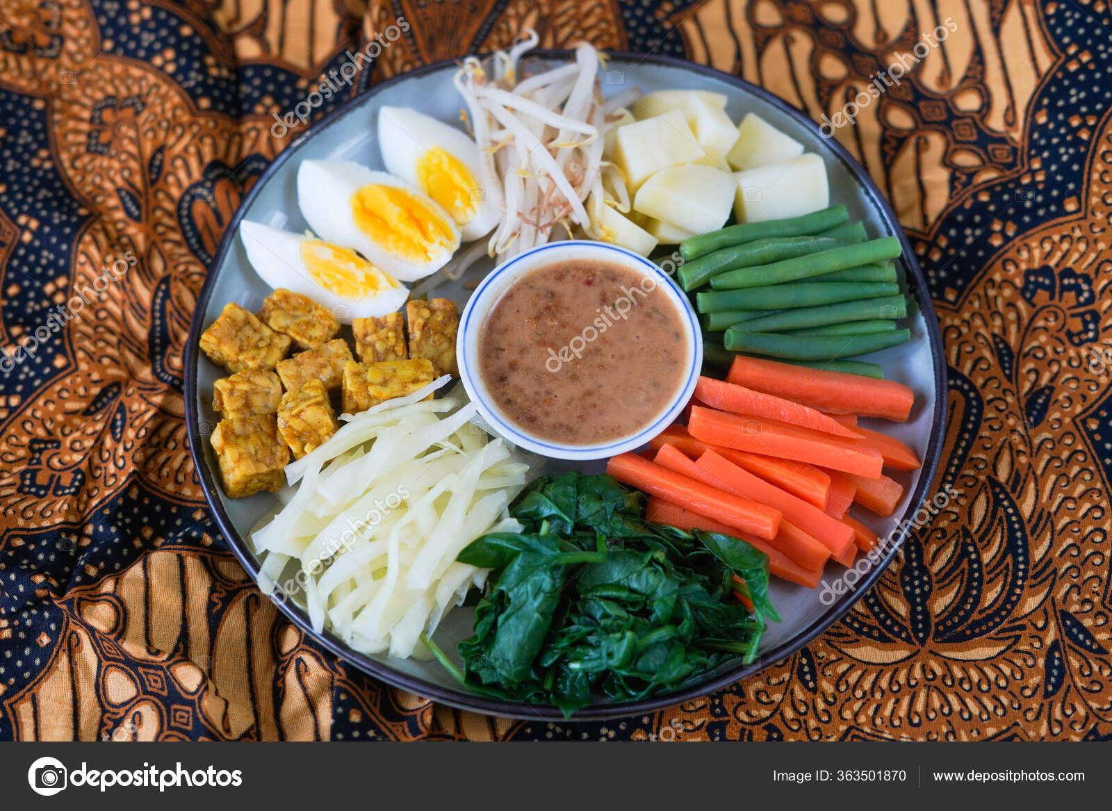 Gado Gado Traditional Indonesian Salad Peanut Sauce Royalty Free Photo Stock Image By Arissetya 363501870