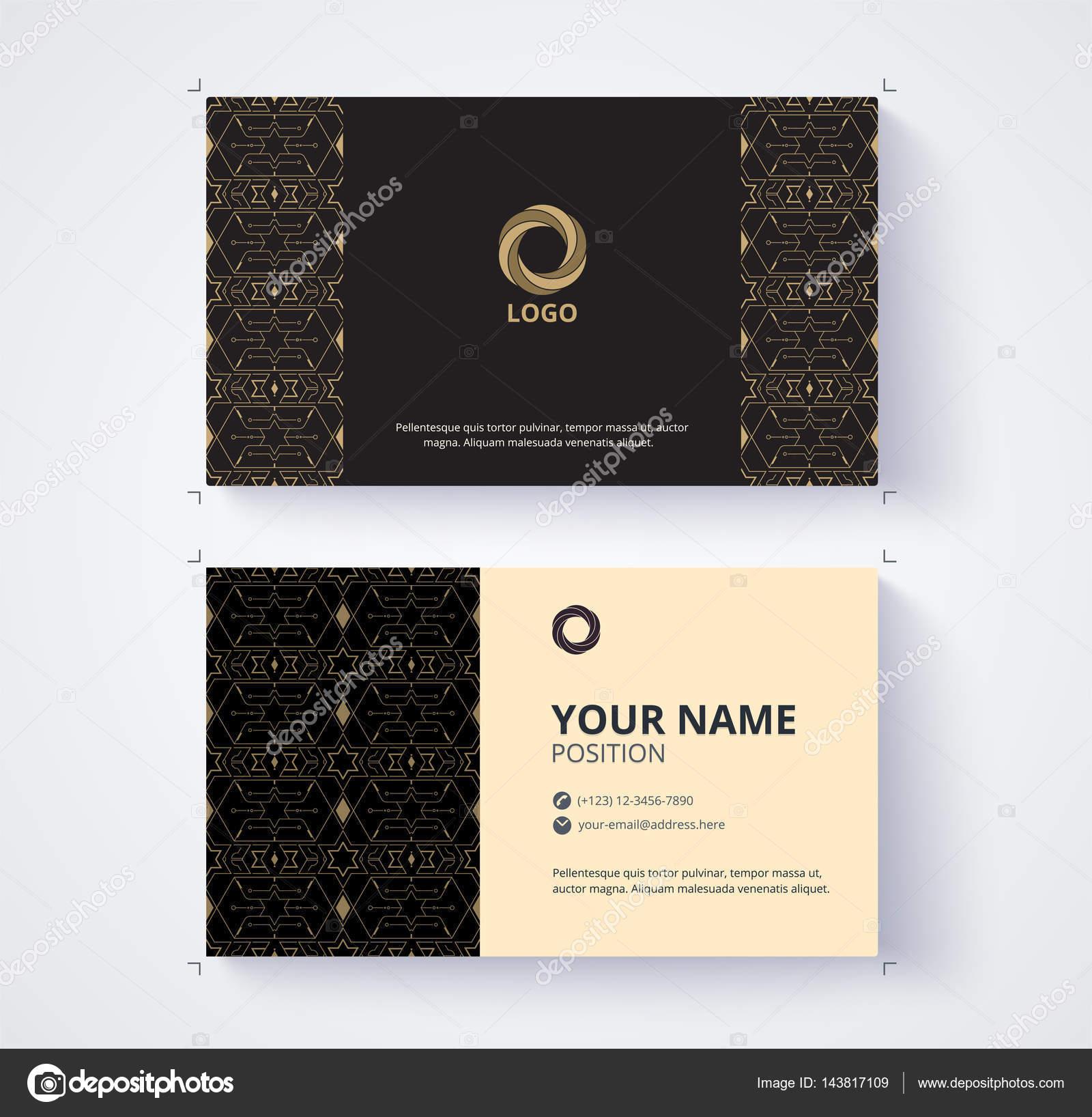 Modle Carte Visite Exemple Logo Texte Position Vecteur Image Vectorielle