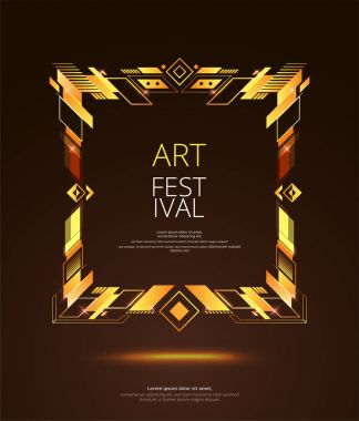 Vector frame for text Modern Art graphics for hipsters . dynamic