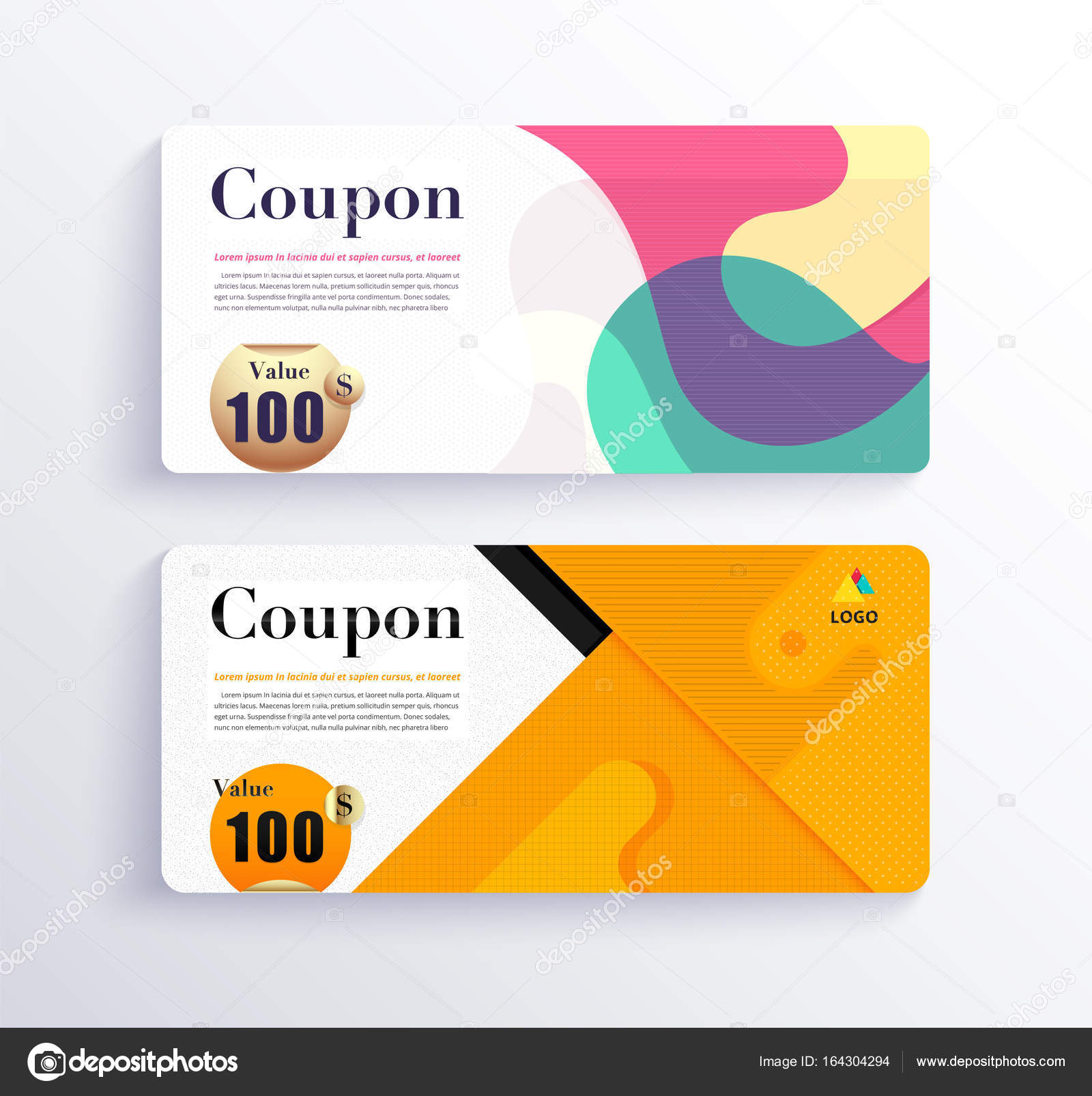 Business coupon voucher template design with geometric concept business coupon voucher template design with geometric concept vector illustration vector by aohodesigndp cheaphphosting