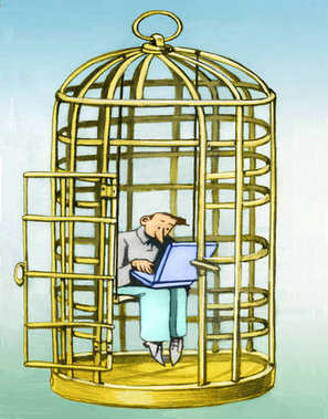 stay in distracted cage