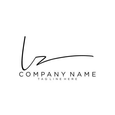 Initial letter LZ Signature handwriting Logo Vector