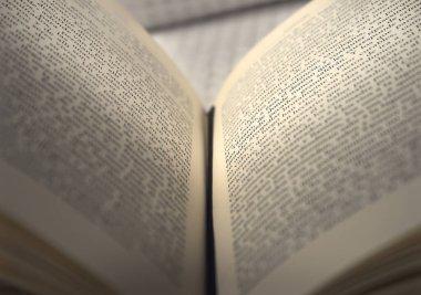 An old written open book