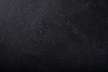 Black concrete wall background with putty texture stock vector