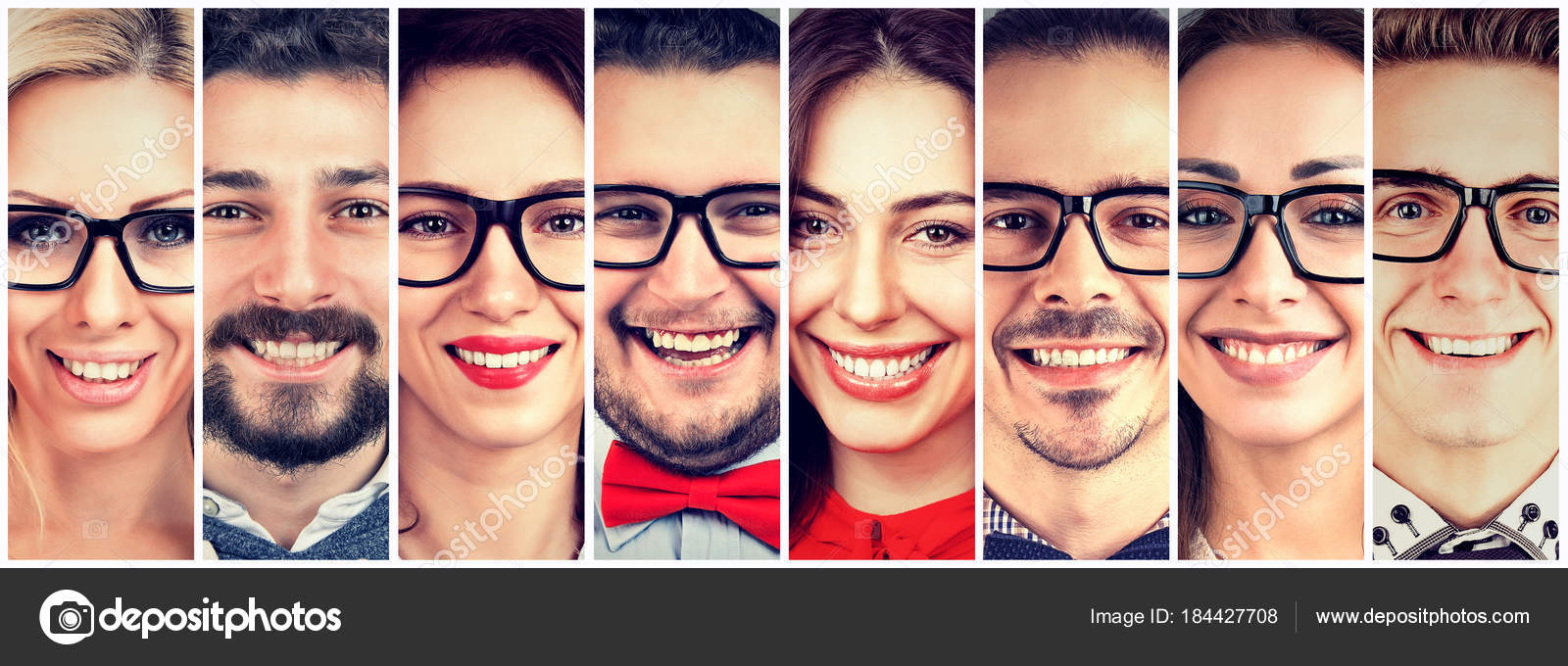 smiling faces happy group of multiethnic people stock photo