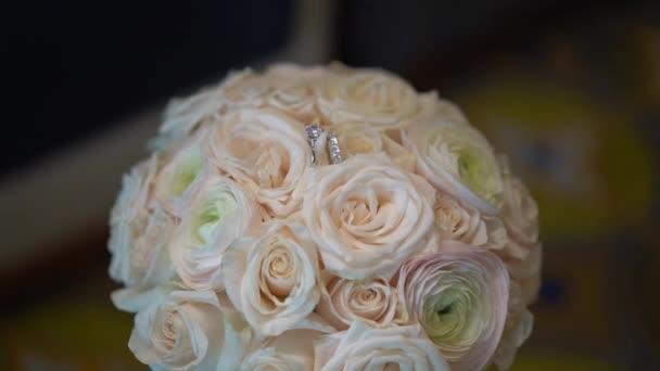 Bridal bouquet. Wedding frame.