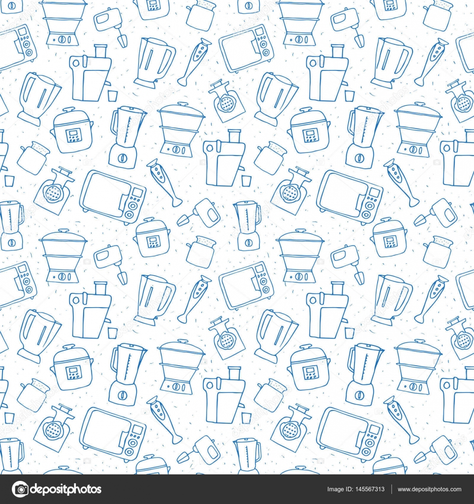 Cocina aparato de patrones sin fisuras — Vector de stock © meduzzza ...
