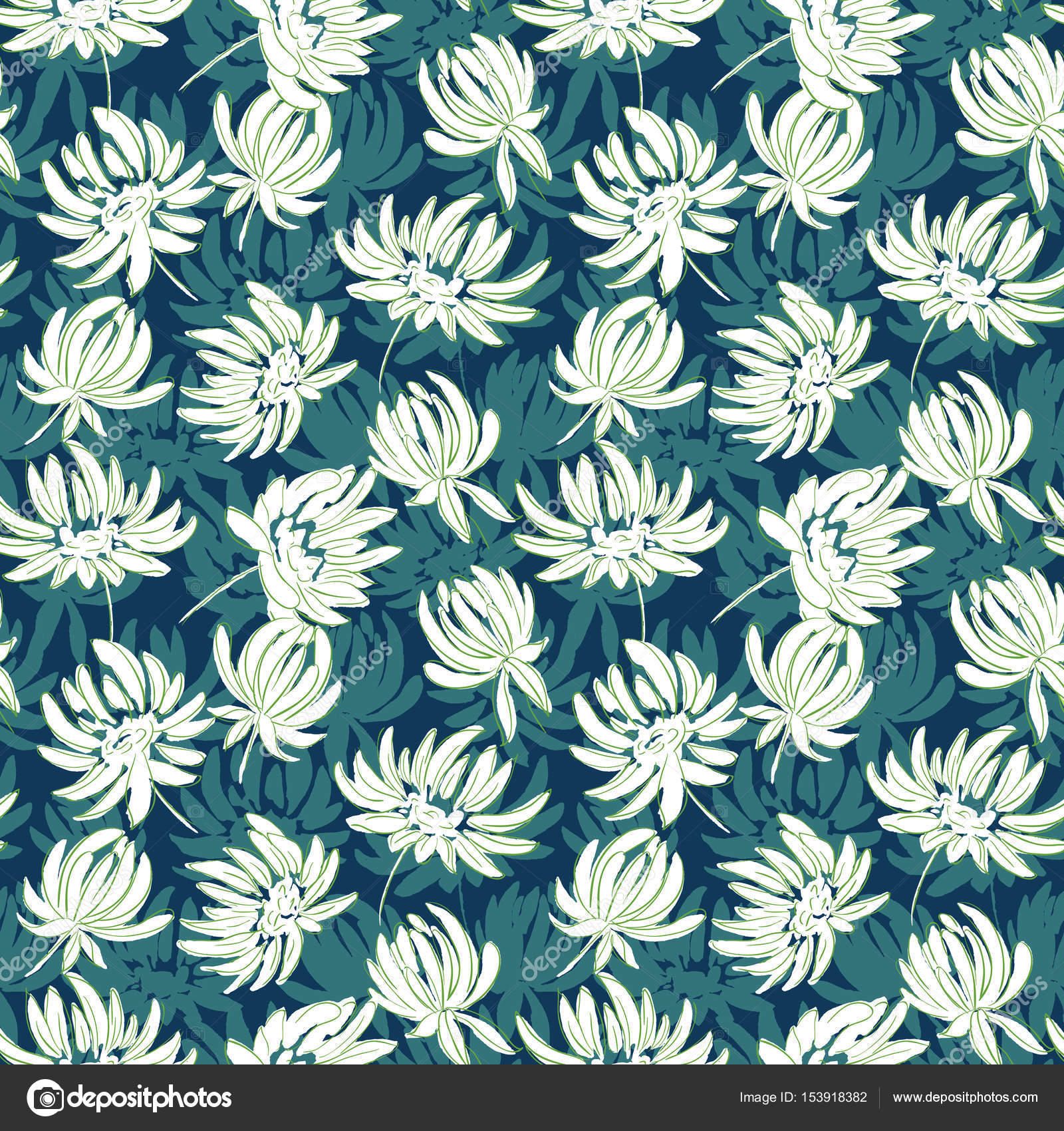 bunte Hand gezeichnete Blumen nahtlose Muster. Blumen Hintergrund ...