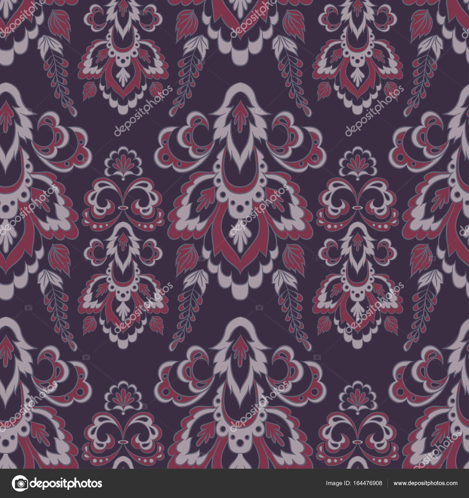 Baroque Style Floral Wallpaper Seamless Vector Pattern Stock