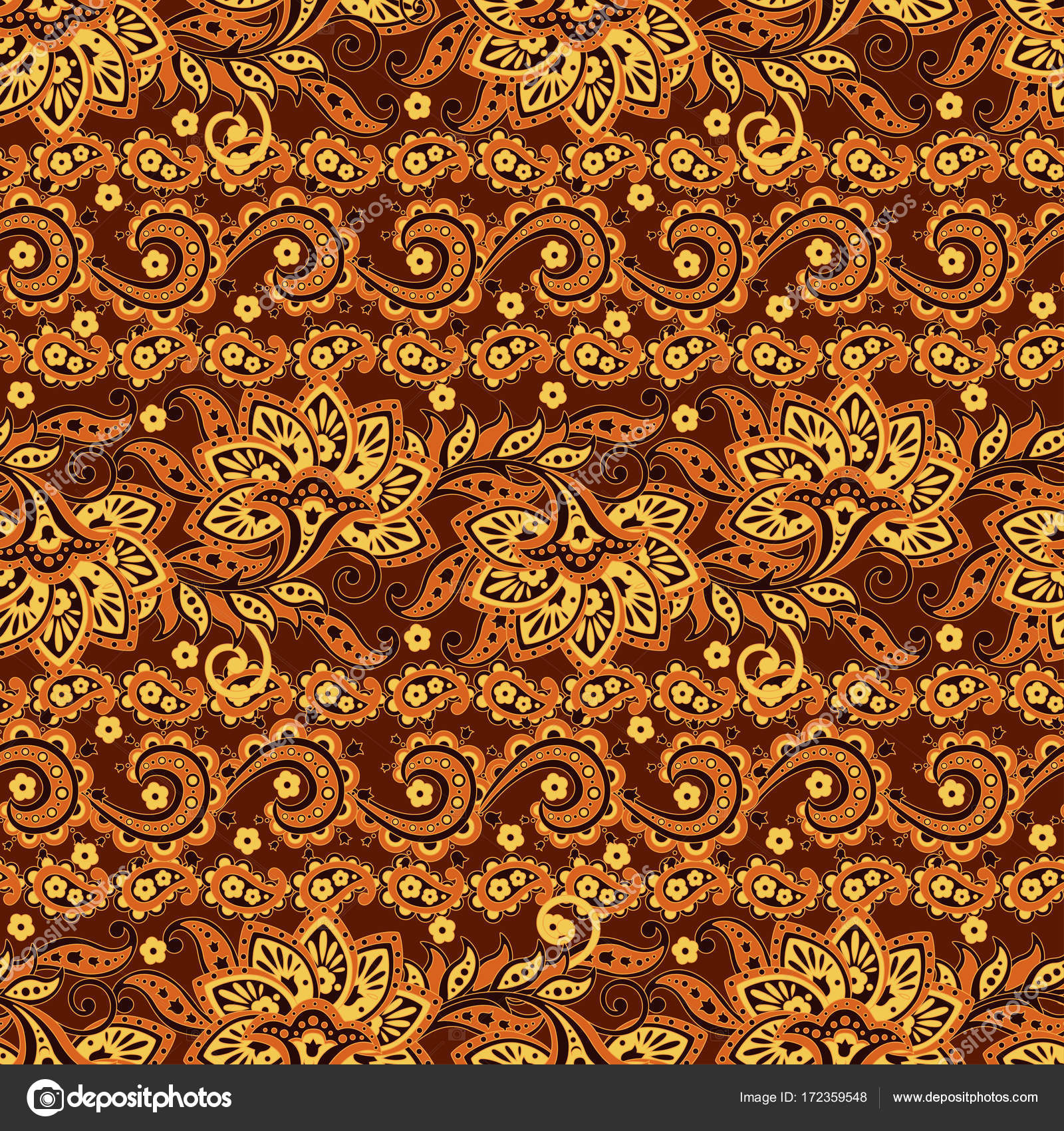 Paisley Floral ethnic seamless Pattern.Ornamental motifs of the ... for Indian Fabric Designs Patterns  269ane