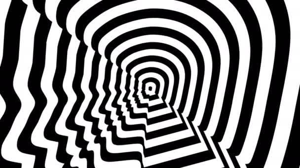 Konzentrische entgegenkommenden abstrakten Symbol links Brad Pitt Profil - optische, visuelle illusion.