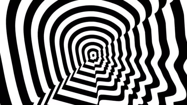 Konzentrische entgegenkommenden abstrakten Symbol, Brad Pitt richtige Profil - optische, visuelle illusion.