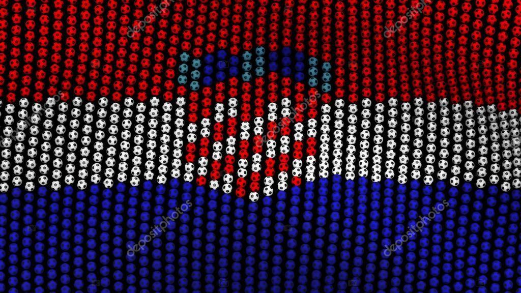 Bandera de Croacia, que consta de muchos balones ondeando en el ...