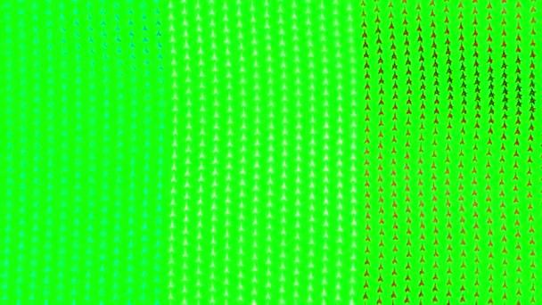 Auf grünem Hintergrund weht die französische Flagge im Wind. Nahtloses Looping-Video.