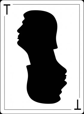Donald Trump profile is on the playing card