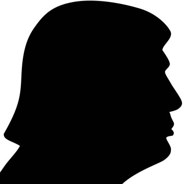 Februry 5, 2017. US President Donald Trump right profile