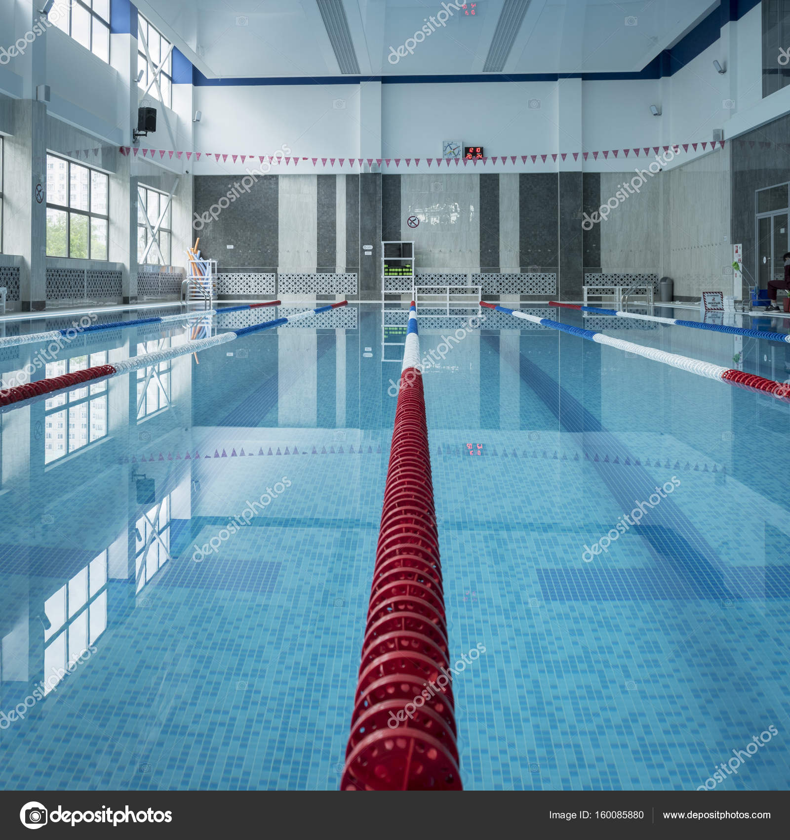Public Indoor Swimming Pool. U2014 Stock Photo