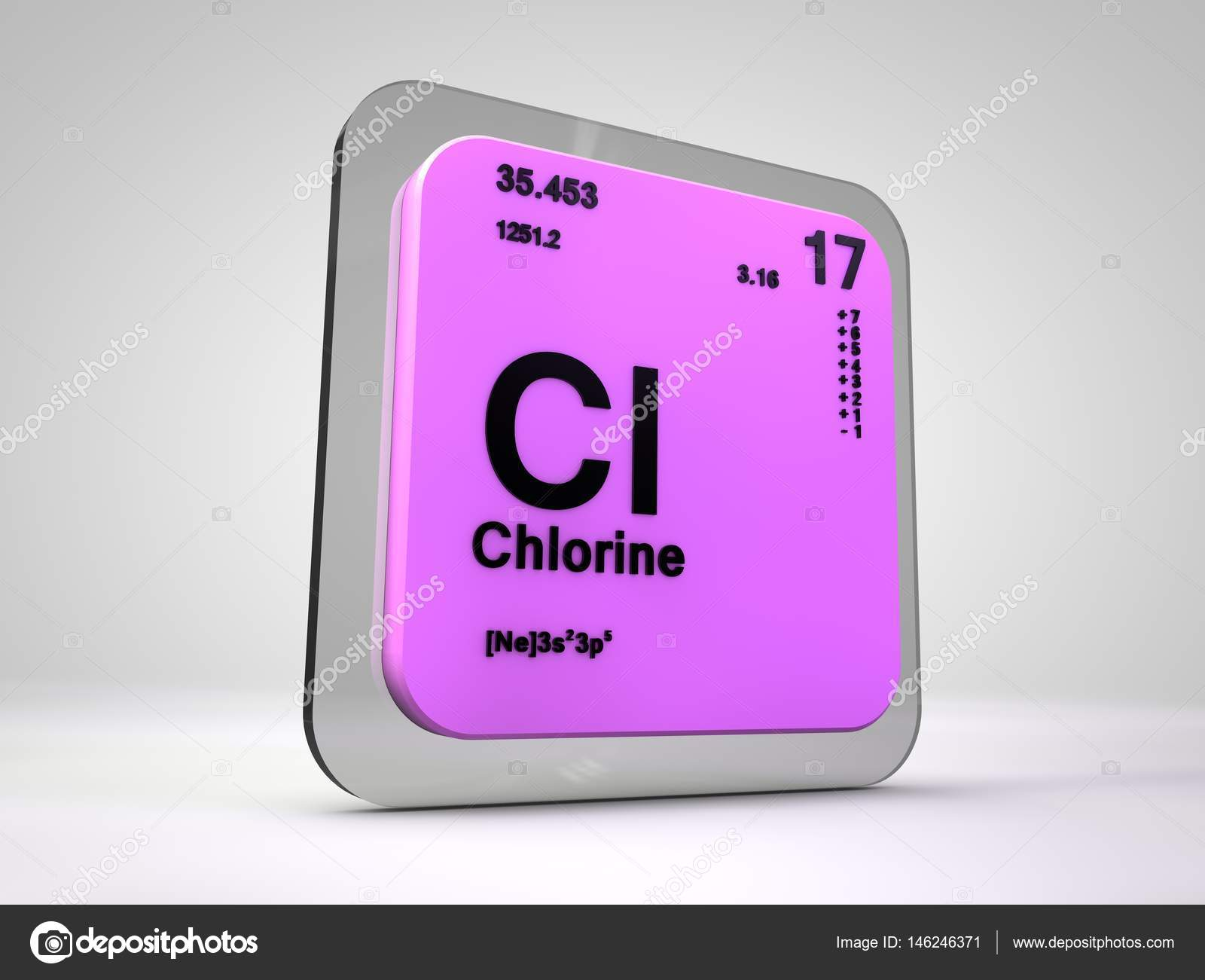 Cloro cl elemento qumico tabla peridica 3d render foto de cloro cl elemento qumico tabla peridica 3d render urtaz Images