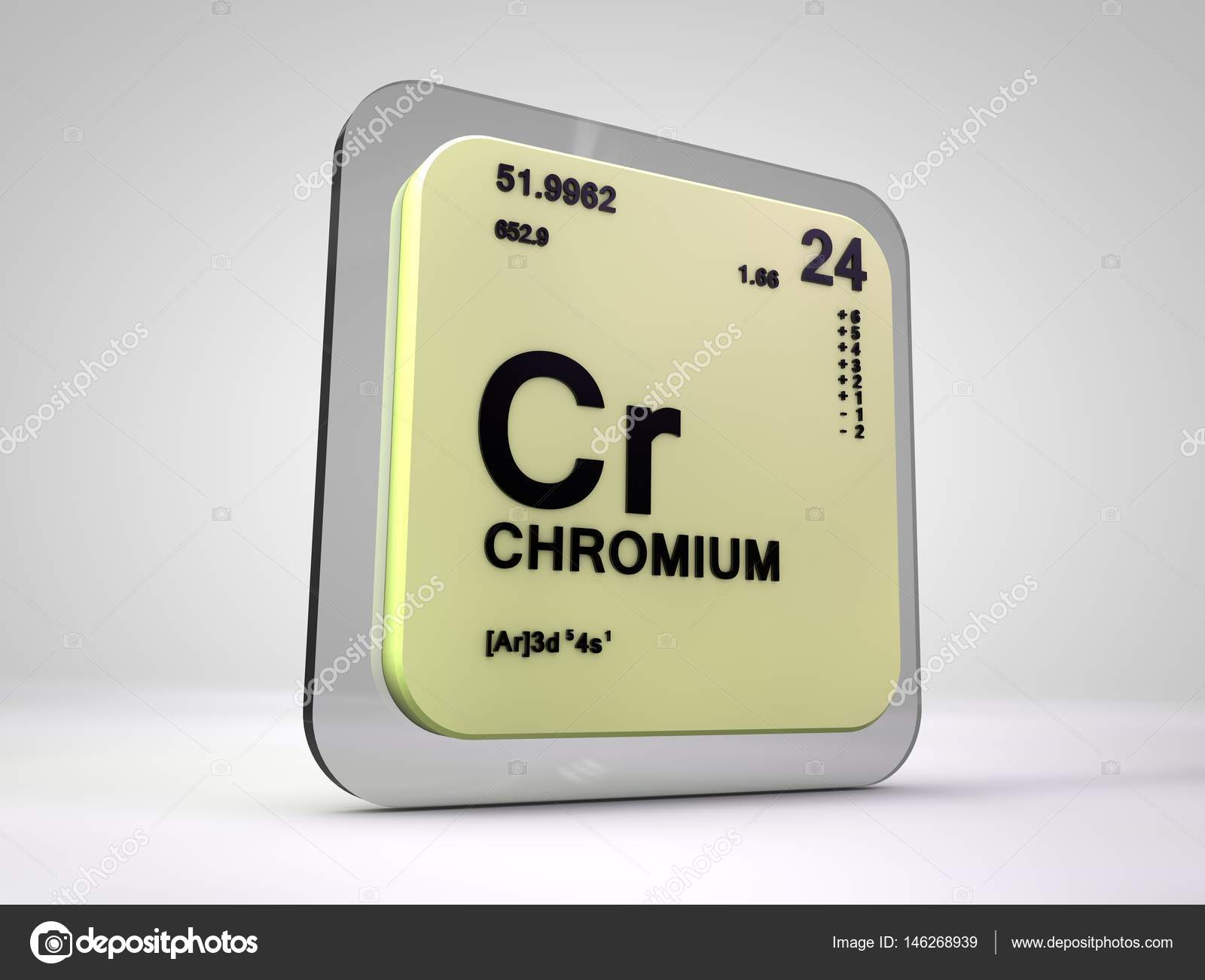 Chromium cr chemical element periodic table 3d render stock chromium cr chemical element periodic table 3d render photo by viking75 gamestrikefo Images