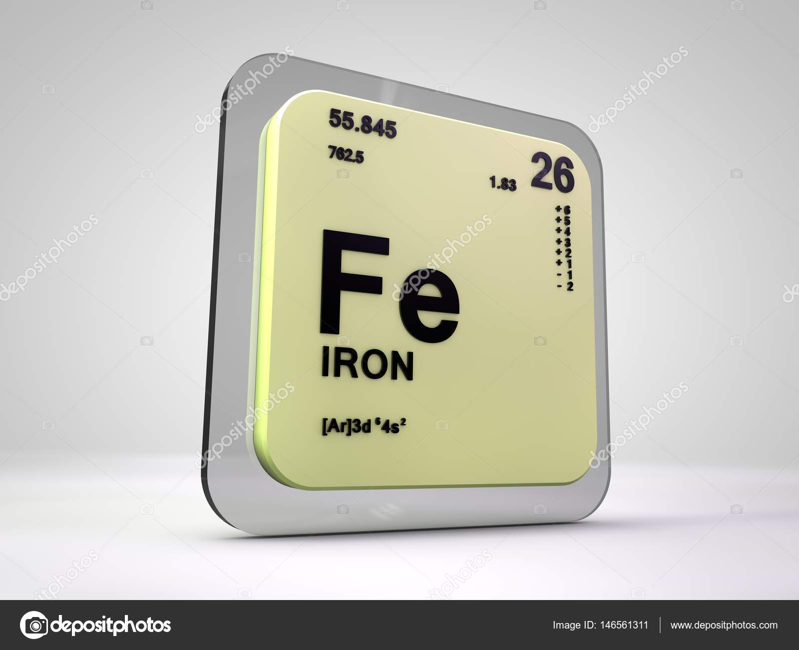 render 3d de fe elemento qumico tabla peridica de hierro fotos de stock - Tabla Periodica De Los Elementos Hierro