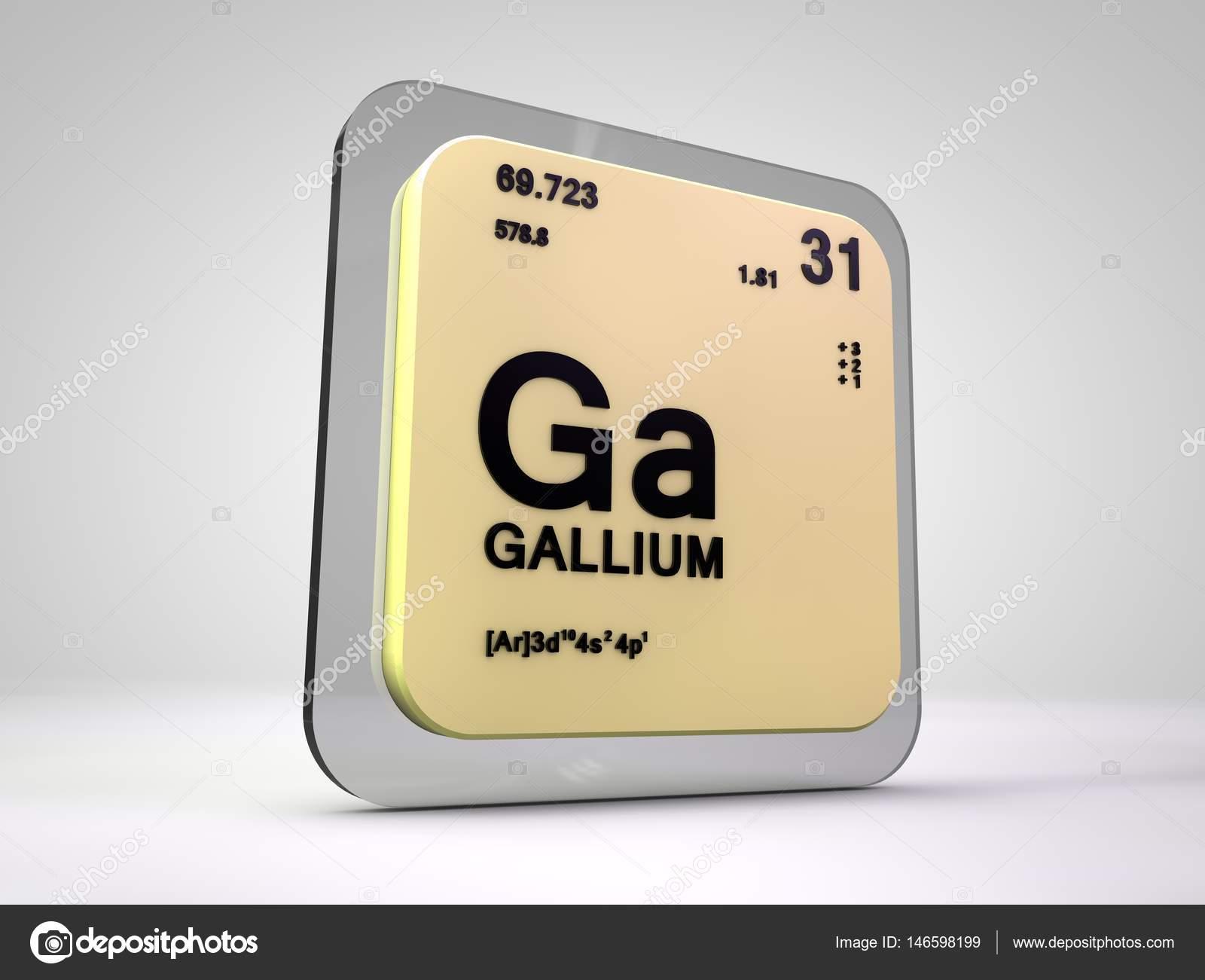 galio ga elemento qumico tabla peridica 3d render foto de stock - Tabla Periodica De Los Elementos Galio