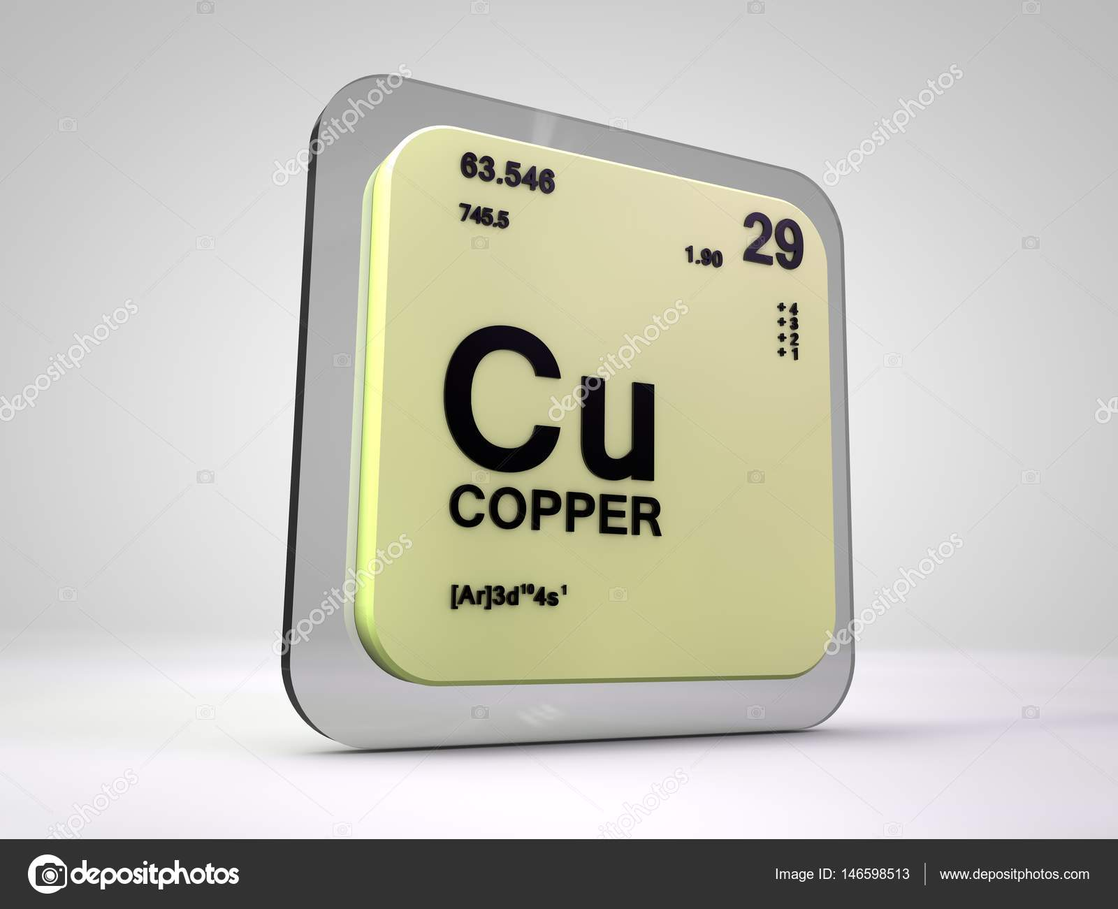 copper cu chemical element periodic table 3d render photo by viking75 - Periodic Table Copper Symbol