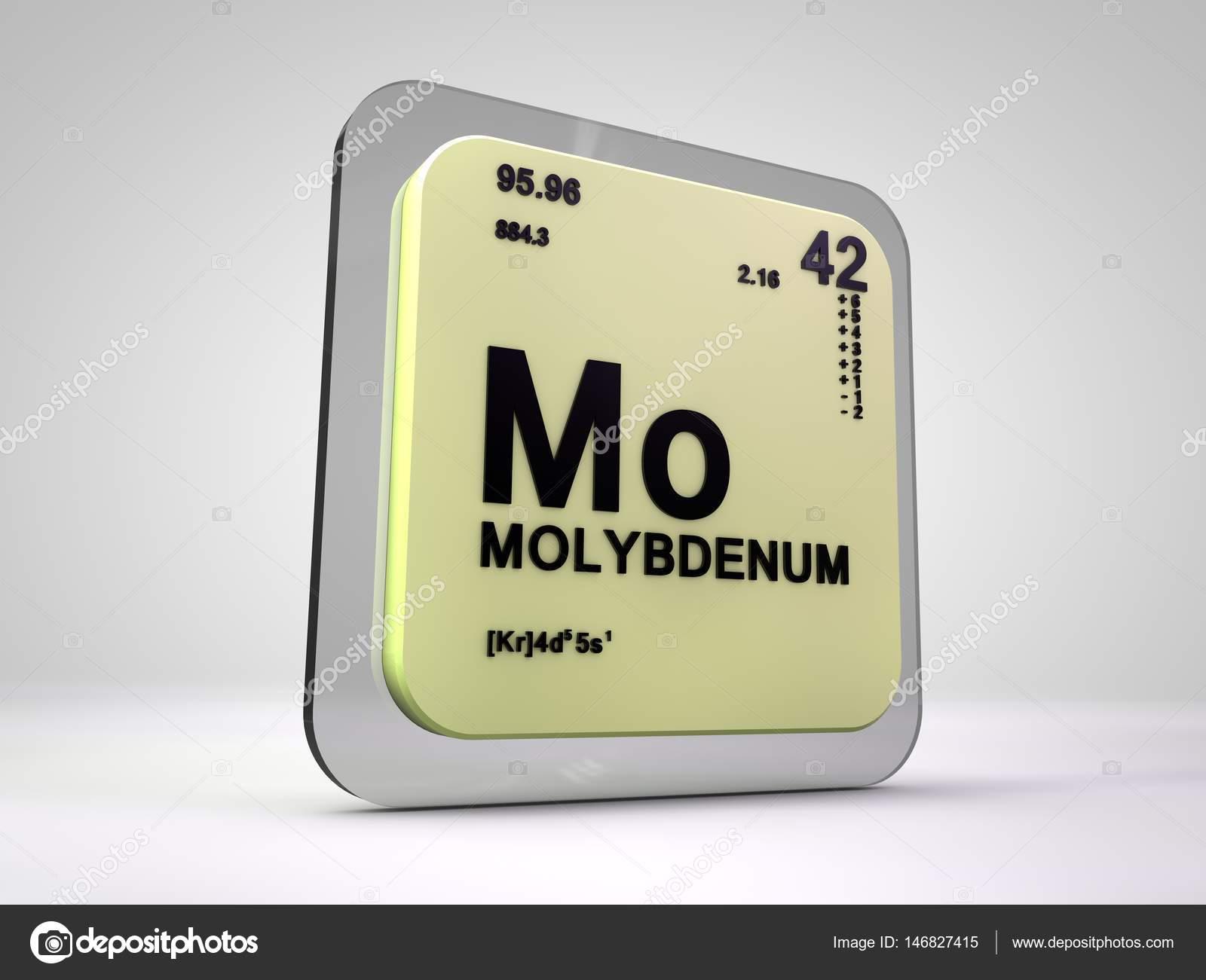 Molybdenum mo chemical element periodic table 3d render molybdenum mo chemical element periodic table 3d render stock photo urtaz Choice Image