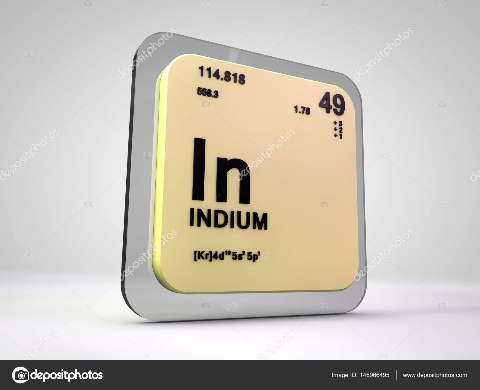 Indium in chemical element periodic table 3d render stock indium in chemical element periodic table 3d render photo by viking75 gamestrikefo Gallery